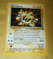 POKEMON BLACK STAR PROMO CARD - #2 ELECTABUZZ (WB MOVIE)