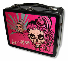 "LADY GAGA ""CARTOON"" TIN LUNCH BOX BORN THIS WAY 2013 TOUR NEW OFFICIAL"