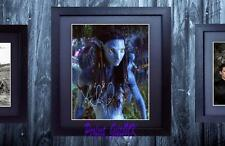 Zoe Saldana Neytiri Avatar SIGNED & FRAMED 10x8 REPRO PHOTO PRINT
