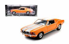 ORANGE 1968 FORD MUSTANG GT GREENLIGHT 1:18 SCALE DIECAST METAL MODEL CAR