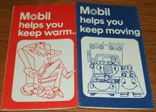 VINTAGE 1973 Mobil Oil Gas PROMO Foldout Heating Oil & Fuel Savings Tips Booklet