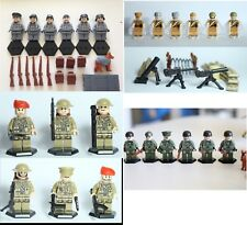 WWII soldier minifigs-UK, US, Soviet,German,24 minifigs with weapons,dogs, more