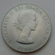UK Great Britain 1 Crown 1965. KM#910. One Dollar coin. Churchill. 1 year issues