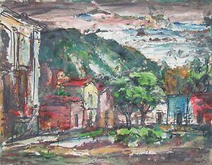 """Rudolph J Schmidt Original Oil Painting 1963 -""""San MiguelMexico"""""""