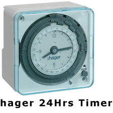 Hager EH711 24hrs Analog Timer Switch Wall Mount for lighting automations