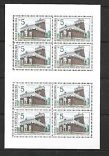 Czech Republic Sc 2882 NH Minisheet of 1993 - historical places