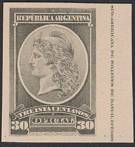 ARGENTINA - Plate proof on thick card.......................................D683