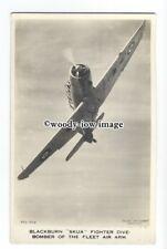 ac0111 - Aircraft - Blackburn Skua Fighter Dive Bomber - postcard