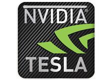 "nVidia Tesla 1""x1"" Chrome Domed Case Badge / Sticker Logo"