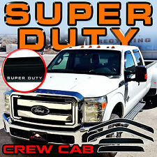 2008 2009 2010 2011 2012 F250- F550 Super Duty Crew Cab Window Visor Vent Shades