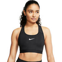 NIKE NEW $38 Swooch Band Medium Support Sports Bra in Back XS