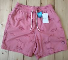 Men's Ben Sherman Swimming Shorts / Trunks Size Small, Pink with print, New