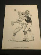 "1981 SHELL OIL AL BUBBA BAKER DETROIT LIONS 10"" X 14"" PRINT"