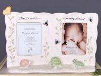 Lenox Porcelain Picture Frame BUTTERFLY MEADOW Baby Nursery Decor Shower 828788