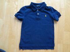 RALPH LAUREN POLO boys navy designer t shirt top AGE 5 YEARS AUTHENTIC