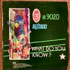 "BUZZCOCKS What Do You Know~Running Free~Pete Shelly IRS 9020~7"" 45rpm"