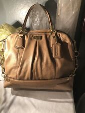 NWOT Coach Kristin 15339 Leather Convertible Pleated Satchel/Shoulder Bag Taupe