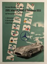 Original Vintage Poster MERCEDES BENZ EIFELRENNEN 1955 Victory - German Text