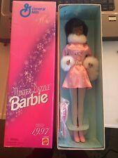 New Nib African American Winter Dazzle Barbie Doll 1997