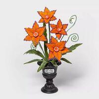 Hyde & Eek Boutique Orange Preying Posies Medium Halloween Faux Plant TARGET New