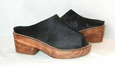 Urban Outfitters Ecote Women's Pony Hair Leather Platform Mules Retail $89 sz 7