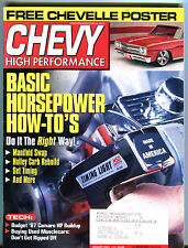 Chevy High Performance Magazine August 2001 Horsepower How-To's EX 020216jhe