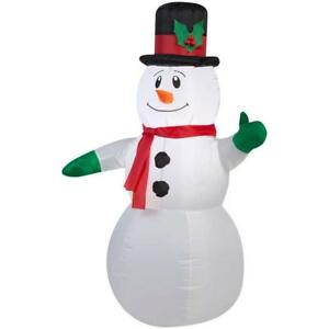 NEW XMAS LED LIGHTED INFLATABLE AIRBLOWN 42 INCH SNOWMAN INDOOR/OUTDOOR BNIB