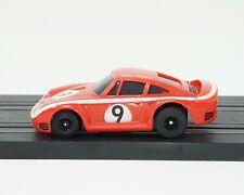 TOMY Aurora AFX Turbo chassis HO slot car w/ rare red Porsche 959 Bill Enke body
