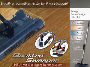 Kehrmaschine, Quattro Sweeper Akku-Kehrbesen 4 tlg.