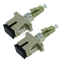 2pcs LC Male to SC Female Fiber Optic Adapter MM 50/125  Hybrid Optical Adaptor