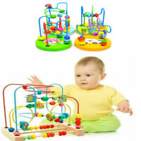 Baby Kids Wooden Beads Interactive Early Educational Puzzle Toys Gifts Kids