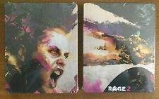 RAGE 2 NEW in FOIL STEELBOOK PS4 PC XBOX ONE G2 SIZE METAL CASE IN STOCK!