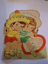 Vintage Valentine Honeycomb Pull-out Boy Girl Jumping Rope Sweet Children Large
