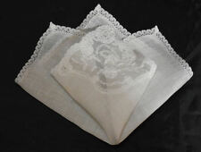 vintage wedding handkerchief Something Old corner lace Hold History hanky
