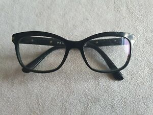 Prada black glasses frames. VPR 10R.