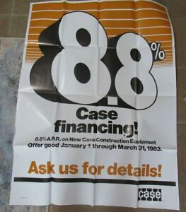 1983 Case poster Case Financing Rate 8.8%  large poster 44x32""