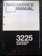NAD SERVICE MANUAL for 3225 Integrated Amplifier
