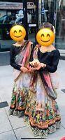 Girls Saree Sari Pakistani Bridal Indian Designer Weeding Party Wear. Each £50