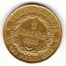 Hannover: 1 Krone 1864 -> GOLD -> Jahrgang RARE !!!!