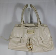 MARC BY MARC JACOBS Beige Leather Zip Close Satchel Handbag