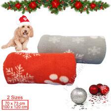 More details for christmas soft fleece christmas print pet car blanket dog puppy cat bed