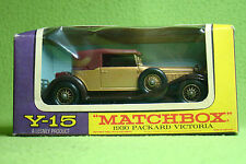 Modellauto - Matchbox - Models of Yesteryear Y-15 - 1930 Packard Victoria - OVP