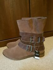 Next Brown Buckle Leather Ankle Boots