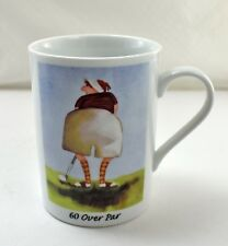Erika Oller Illustration Golf Mug - Lady Golfer 60 Over Par Coffee Cup