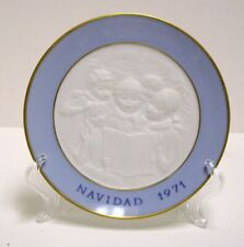 Lladro Christmas Caroling Annual Collectors Plate First Year Edition 1971 Spain