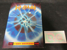 Def Leppard 1993 World Tour Book Concert Program w Japan Ticket Adrenalize era