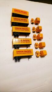 Tyco HO Train Lot 5 Union Pacific Tractor Trailers For Layout/Scenery/Flatcars