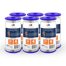 """6PK of Big Blue 1µm Pleated Washable Sediment Water Filter 10""""x4.5"""" by Aquaboon"""