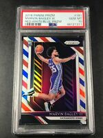 MARVIN BAGLEY 2018 PANINI PRIZM #181 RED WHITE BLUE REFRACTOR ROOKIE RC PSA 10