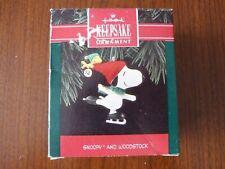 Hallmark Keepsake Ornament - Peanuts Snoopy and Woodstock ice skating 1992